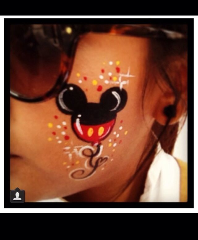 mickey mouse face painting idea pinterest. Black Bedroom Furniture Sets. Home Design Ideas