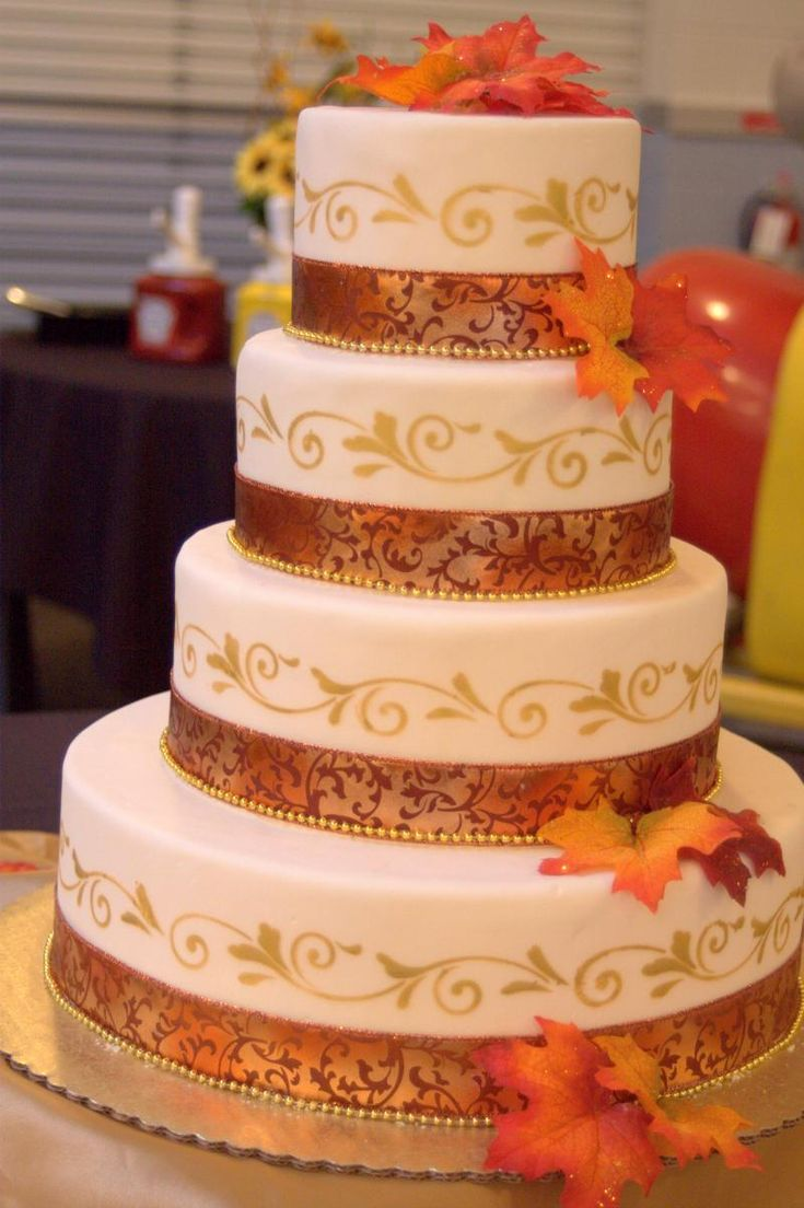 Cakes and Crafts By Sue - Beautiful Fall Cake!