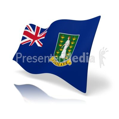 This clip art image shows the British Virgin Islands flag at a perspective angle. #powerpoint #clipart #illustrations