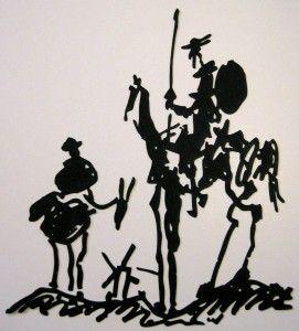 don quixote line drawing (pablo picasso)...my next tat