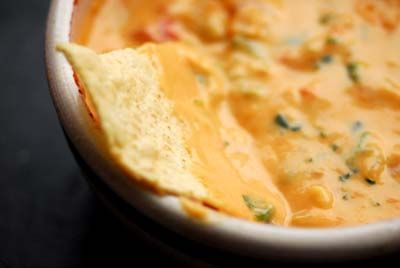 Chili con queso without processed cheese. Not the same as Rotels & Velveeta, but much better for you.