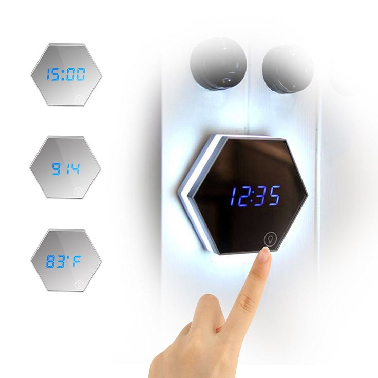 Amazon.com: Accmor Touch LED Night Light, Alarm Clock, Digital Display Clock with Makeup Mirror, Built-in 2000mA Rechargeable Battery,3 in 1 Travel Alarm Clocks(Silver): Home & Kitchen