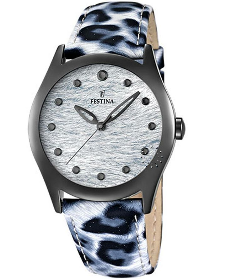 FESTINA Blue Animal Print Leather Strap Τιμή: 88€ http://www.oroloi.gr/product_info.php?products_id=36405