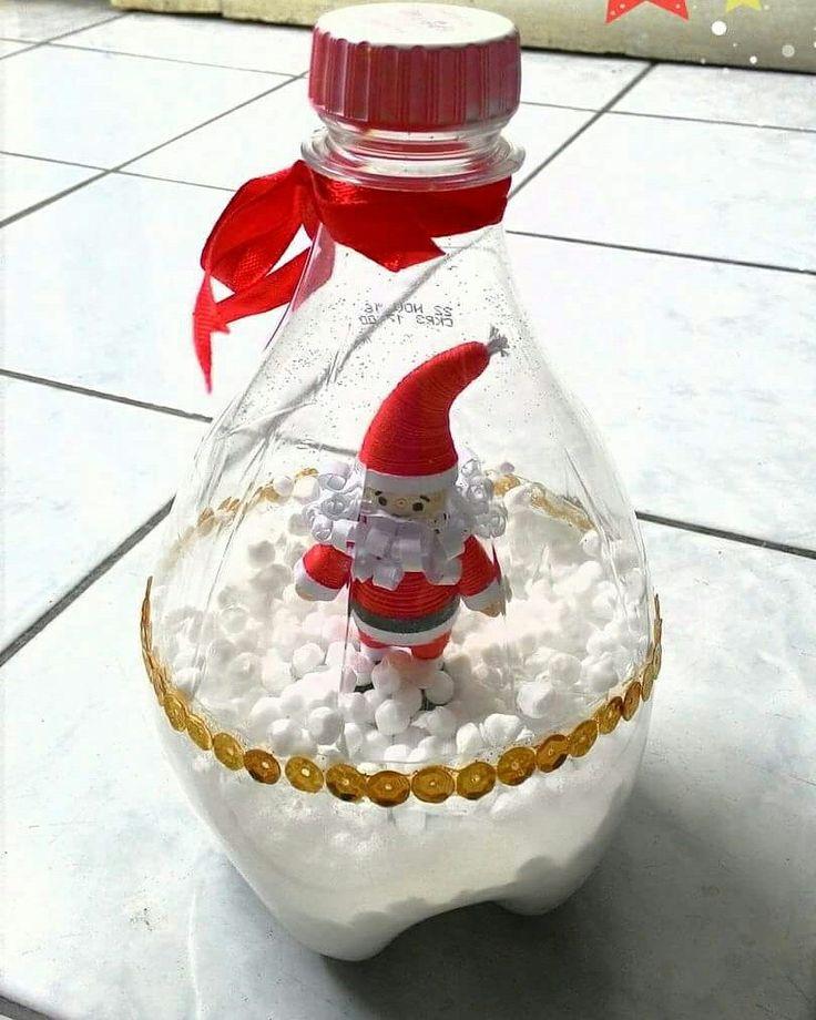 Santa in the bottle.