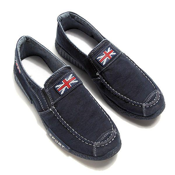 Men Breathable Denim Slip On Casual Flats Loafers - US$19.99  men shoes fashion