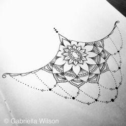Sternum piece #sternum #underboob #tattoo #tattoodesign #sternumtattoo #underboobtattoo #design #unipin #pointilism #dotwork #black #blackandwhite #ink #doodle #doodleart #zendala #zentangle #mandala #pattern #art #sketch #sketchbook #moleskine...