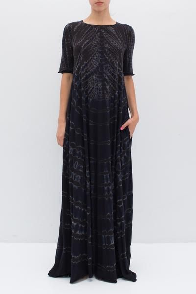 SHORT SLEEVE MAXI DRESS BY RAQUEL ALLEGRA | SHOPHEIST.COM
