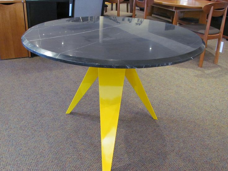 Black Marble dining table w yellow metal base Scan  : 416574ec3b2dc86c05d9287eb1796521 from www.pinterest.com size 736 x 552 jpeg 76kB