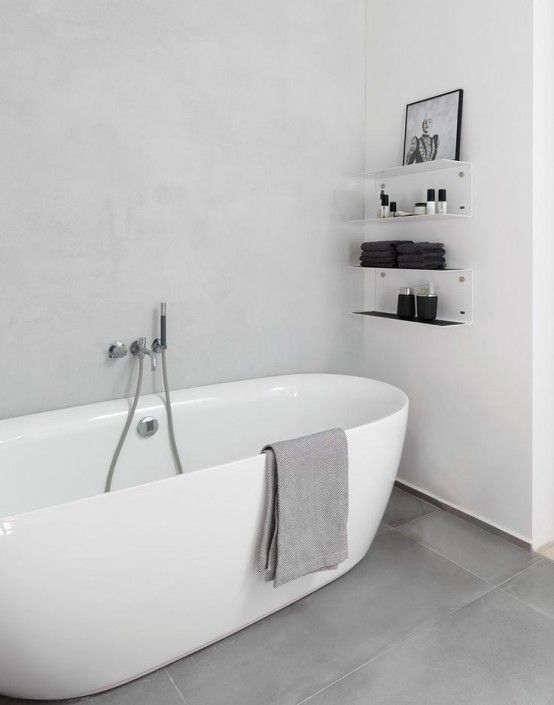 Compendious Minimalist Bathroom 20