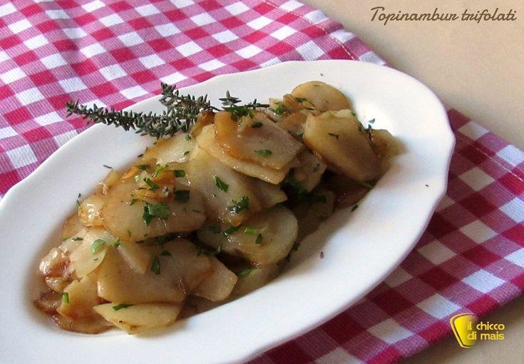 #topinambur #trifolati #ricetta #contorno #vegan e salutare #healthy #vegetarian #recipe #senzaglutine #glutenfree http://blog.giallozafferano.it/ilchiccodimais/topinambur-trifolati-ricetta-contorno/