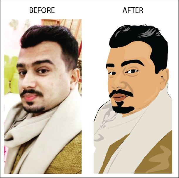 Asfandyaronly I Will Convert Image Into Cartoon Caricature Quickly For 5 On Fiverr Com In 2020 Caricature Cartoon Image