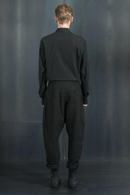 Lost and Found | Double Placket Shirt Black | Over Pant Black  www.fallow.com.au