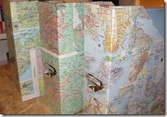 Cover boxes and binders with maps