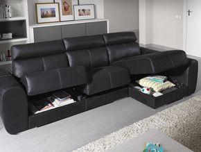 KIBUC, muebles y complementos - Sofá Bodo con arcones bajo los asientos.
