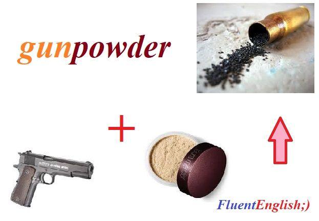 gun + powder = gunpowder! (порох)  #английский #английскийслова #английскийонлайн #учитьанглийскиеслова #английскийрепетиторы #английскийскайп #английскийпоскайпу #английскийразговорный #английскийснуля #английскийчерезскайп #английскийпросто