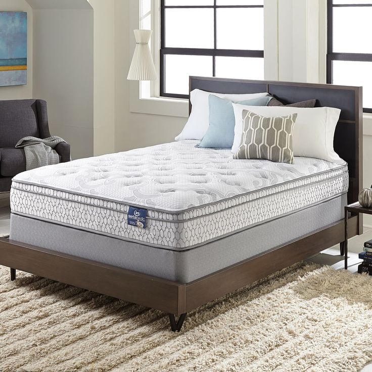 The Serta Extravagant Euro Top Mattress Set Helps Minimize Motion Transfer When Someone Moves At Night
