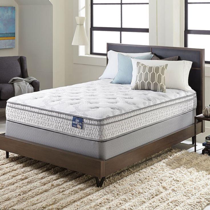 serta extravagant euro top fullsize mattress set by serta