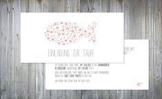 Einladungskarten - Sternchen | Einladung zur Taufe - ein Designerstück von Jennemariepaperlove bei DaWanda