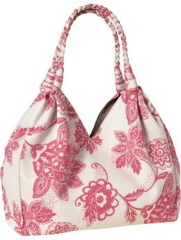 Women's Braided Jaquard-Print tote $19.94