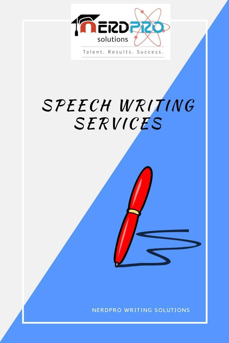 Online speech writing service