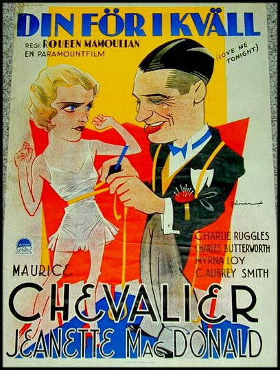 CARTELES DEL CINEMA: ÁMAME ESTA NOCHE - Love Me Tonight - 1932 - Rouben Mamoulian
