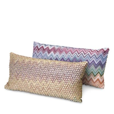 New Missoni Jarris Jamilena Decorative Pillow 12 X 24 Home