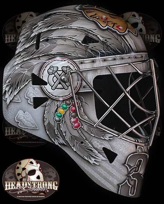 Scott Darling's new goalie mask is AWESOME!!!  #Chicago #blackhawks