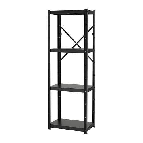 Bror Etagere Noir 65x40x190 Cm Rayonnage Ikea Etagere