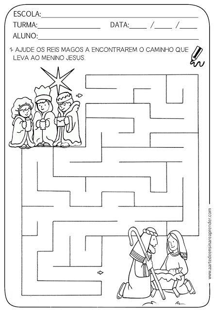 Atividades pronta - Labirinto com temática natalina
