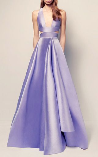 The Maya Silk V Neck Gown by ALEX PERRY for Preorder on Moda Operandi