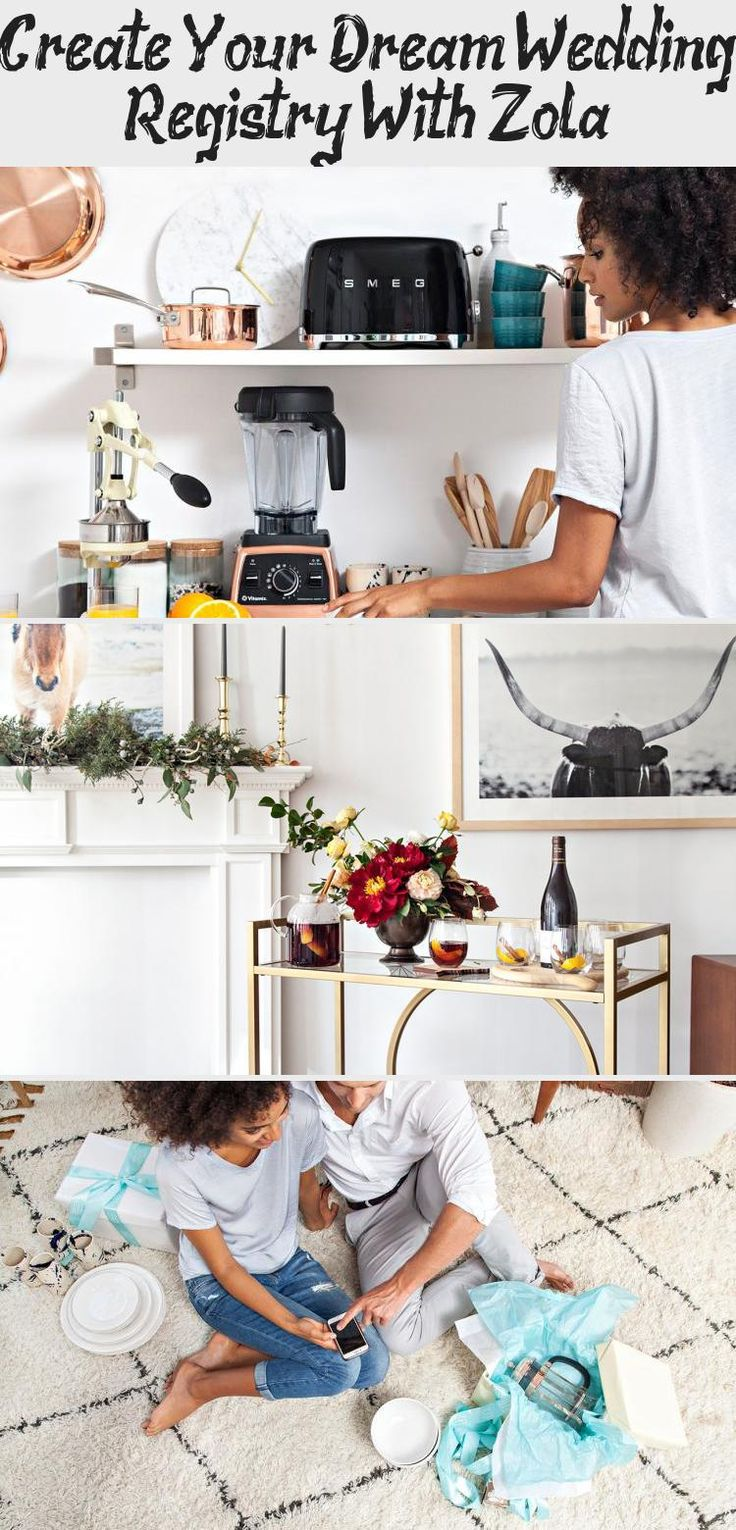 Design your perfect wedding registry with Zola // copper