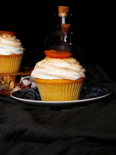 La asaltante de dulces: Receta de cupcakes de mandarina y merengue/ Tangerine & meringue cupcakes recipe. Yummmy!