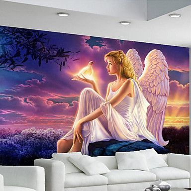 JAMMORY Art Deco / 3D Wallpaper For Home Contemporary Wall Covering Canvas Material Adhesive required Mural 5312608 2017 – $50.99