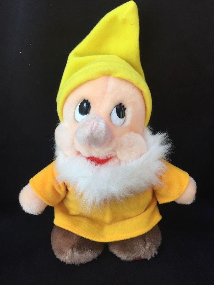 "Disneyland Vintage Bashful Dwarf Stuffed Plush 6"" Snow White Seven Dwarfs Korea    eBay"