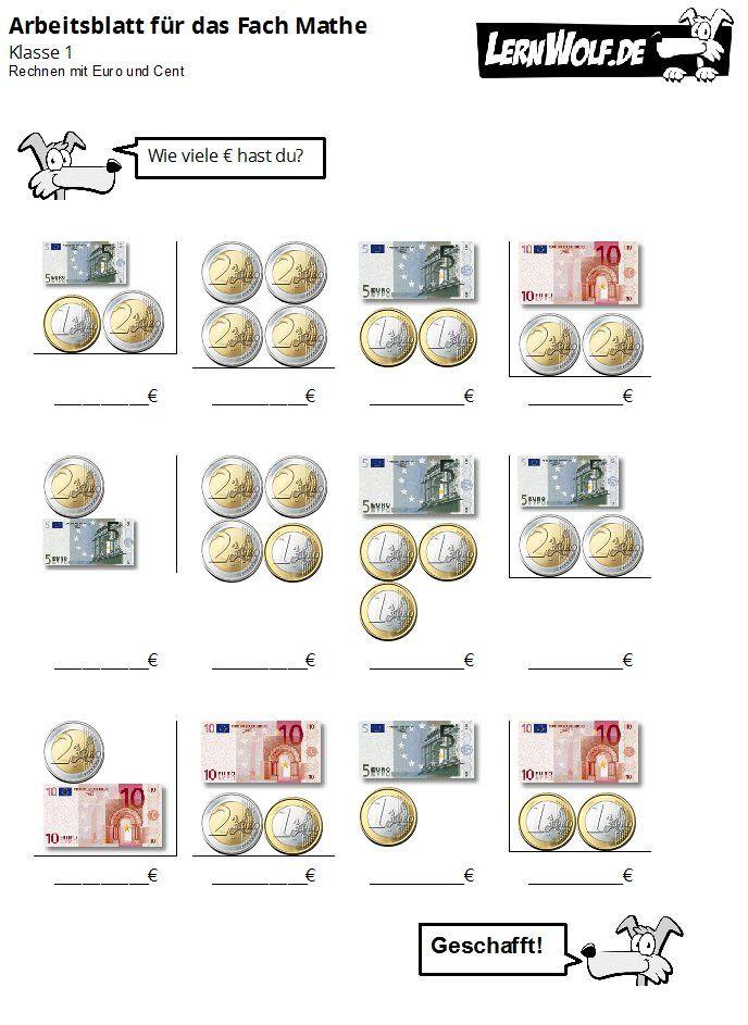 Übungen Mathe Klasse 1 kostenlos zum Download - lernwolf.de | Mathe ...