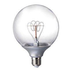 NITTIO Lampadina LED E27 20 lumen, globo color argento - IKEA