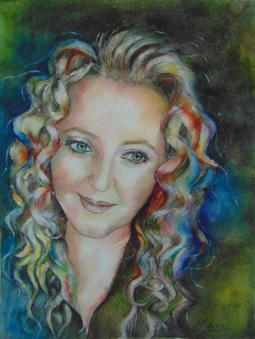 """Nina"" -  beautiful and very special friend of mine, watercolor on fabriano A3"