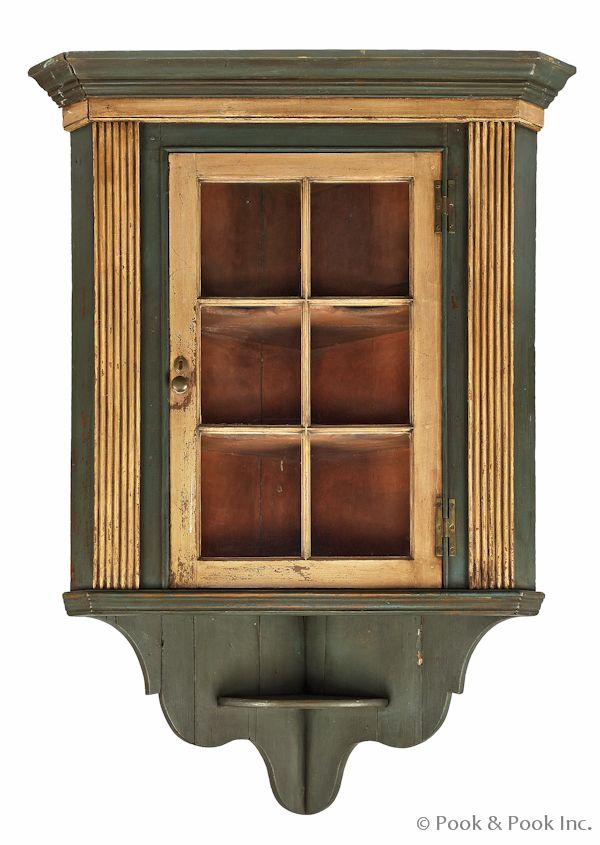 Pennsylvania painted pine hanging corner cupboard, late 18th c., 60 1/2 - 96 Best Cupboards To Make Images On Pinterest Antique Furniture
