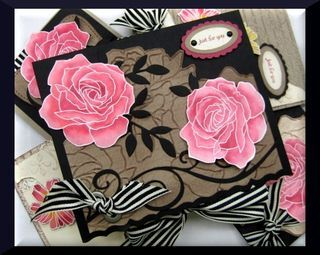 Stampin' Up! - Fifth Avenue Floral. Painting roses with reinkers, LOVE IT...