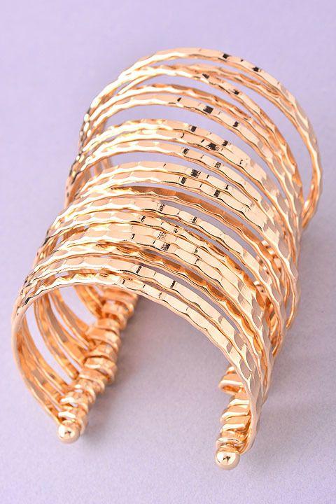 Calypso's Gold Bracelet Cuff - Modern Vintage Boutique