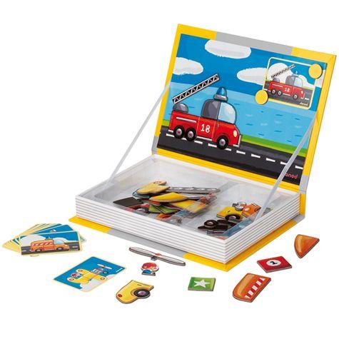 magnetická kniha auta   Dětské hračky pro holky i kluky   ookidoo.com