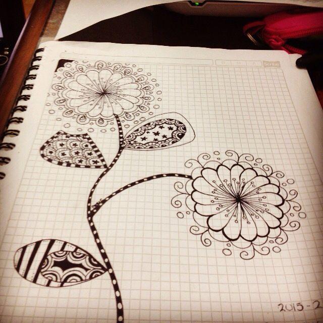 #doodle #fun #flowers #blackandwhite #dibujo
