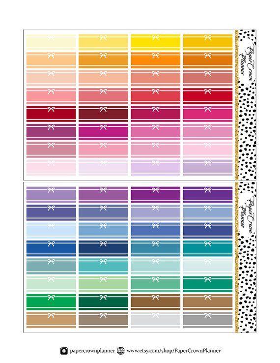 Cut File Ribbon Watercolor Stickers Ribbon Banner Printable Planner Stickers Labels Stickers Erin Condren Planner Sticker