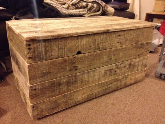 This rustic blanket/toy box is hand made to order. It is made completely from reclaimed wood, preventing it from going to landfill or being burned. The handles are rescued shipping rope. The size is roughly~ 83 x 43 x 43 cm, large enough to store many toys, bedding, bath towels etc, and it can also be personalised with illustrations, names, messages, using a special wood burning pen (please state when ordering if you are interested in this option).  The pictures above are a guide, each box…