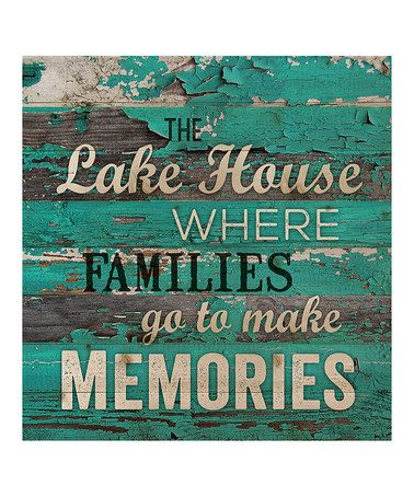 Another great find on #zulily! 'The Lake House' Wall Sign #zulilyfinds