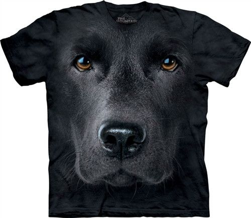 Black Labrador Big Face Mountain T Shirt - yourgifthouse