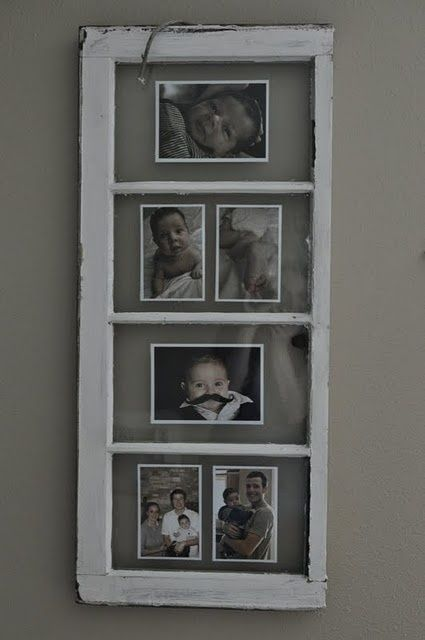 Old windows as picture frame.  Now to find the old windows ...