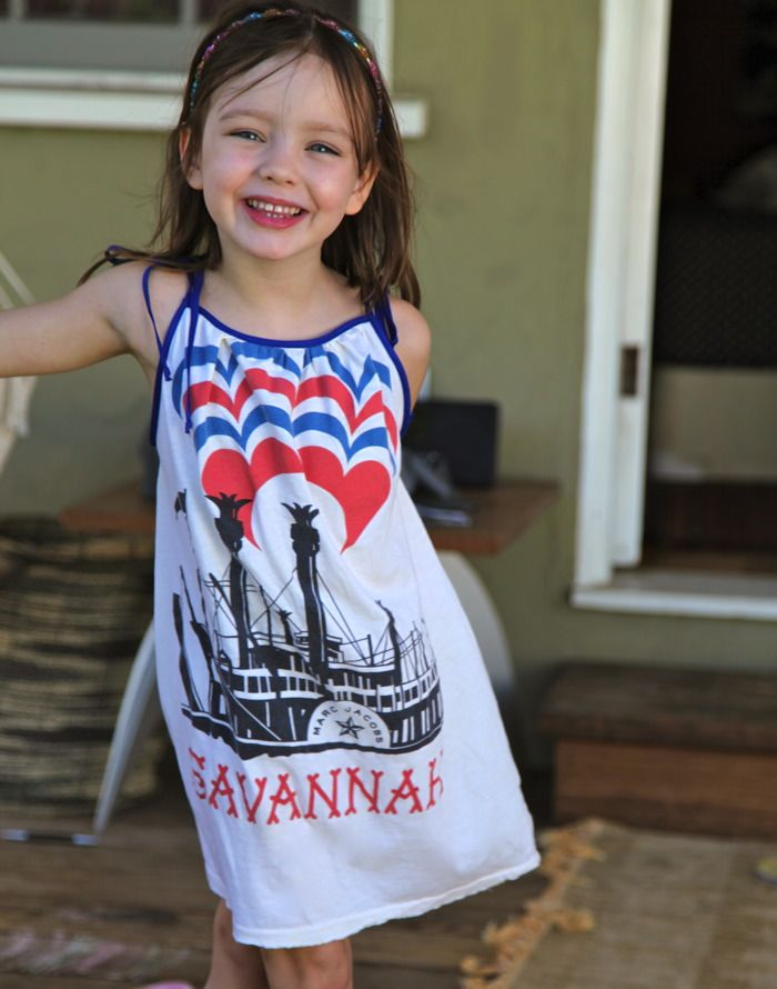 Prudent Baby - How to turn a t-shirt into a sundress