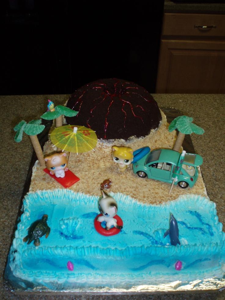 Kool Kats Luau Party Cake