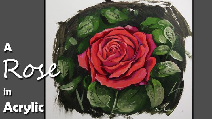 1000 images about acrylic oil paintings videos on for How to paint a rose step by step